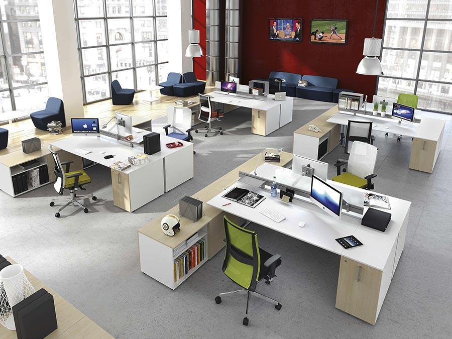 Affordable scrivanie operative da ufficio moderno design for Ufficio stampa design