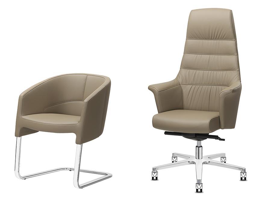 Sedie Ufficio Comode : Sedie e poltrone direzionali dirigenziali e rappresentanza areanova