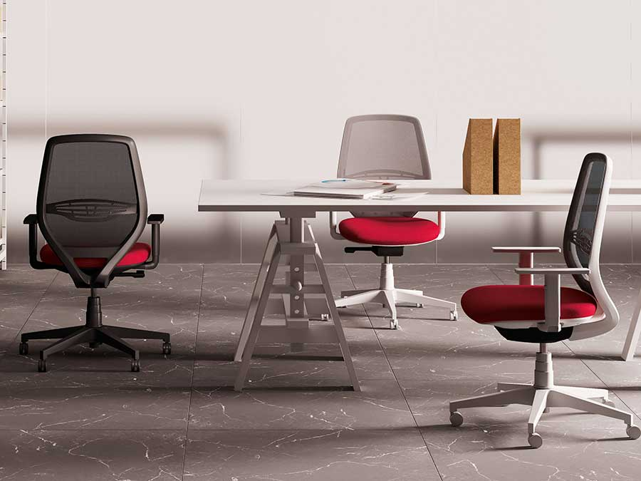 Sedie e sedute operative e tecniche da ufficio areanova for Sedute da ufficio